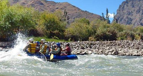 Urubamba river rafting cusco peru