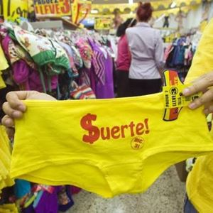 Peru gule held og lykke underbukser.