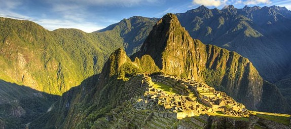 Solnedgang over Machu Picchu